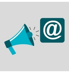 Marketing digital mail concept vector