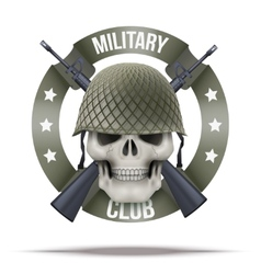 Military club or company badges and labels logo vector image vector image