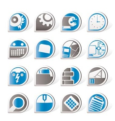 mobile phone and internet icons vector image