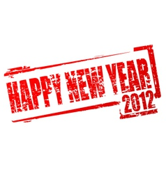 new year 2012 stamp vector image