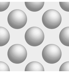 Seamless background 3d balls is white vector