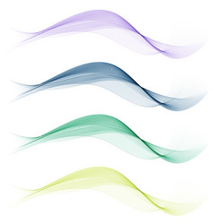 set of abstract wave vector image vector image
