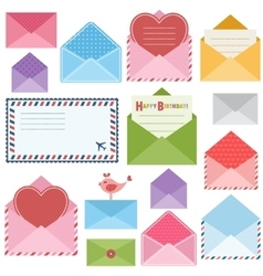set of colorful envelopes vector image vector image