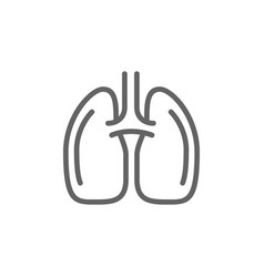 simple lungs line icon symbol and sign vector image