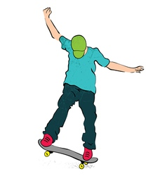 skater balance vector image vector image