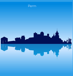 Skyline of perm russia vector