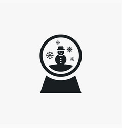 Snowglobe icon simple winter sign vector