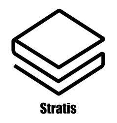 Stratis icon simple style vector