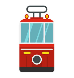 Traditional turkish public tram icon isolated vector