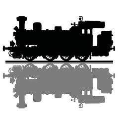 Vintage steam locomotive vector image vector image