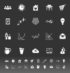 Virtual organization icons on gray background vector