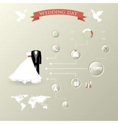 wedding set with graphic elements vector image vector image