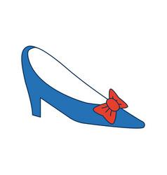 Wedding shoe woman elegance style vector