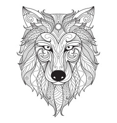 wolf simple vector image