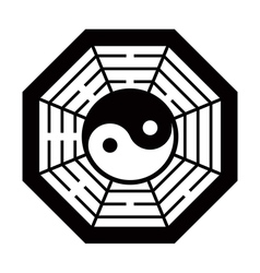 Yin Yang symbol black and white vector image vector image