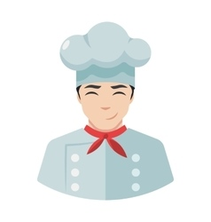 Smiling chef cook icon in hat vector image
