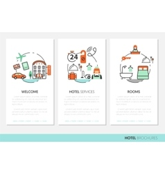 Hotel accomodation business brochure template vector