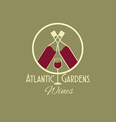 Atlantic gardens wines celebration vector