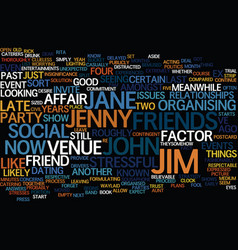 The ex factor text background word cloud concept vector