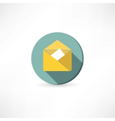 Open yellow envelope vector