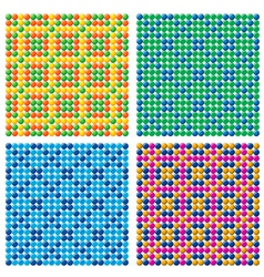 4 seamless candy backgrounds vector image vector image