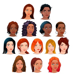 isolated avatars vector image