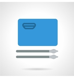 Blue album for drawing flat icon vector