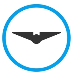 Aviation rounded icon vector