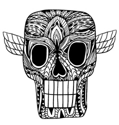 Skull ornament vector
