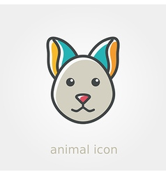 Cat icon farm animal vector