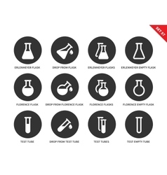 Phial icons on white background vector