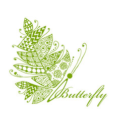 Art butterfly for your design vector