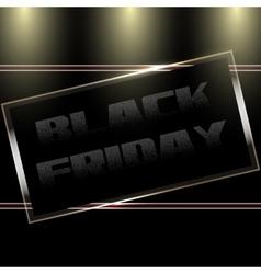 Black Friday Door Plate vector image vector image