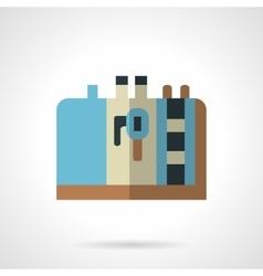 Blue coffee maker flat design icon vector
