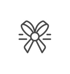 bow line icon vector image