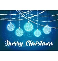 Christmas xmas decorations and balls vector