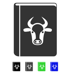Cow book flat icon vector