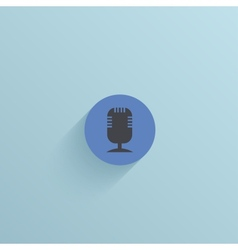 flat circle icon on blue background Eps10 vector image vector image