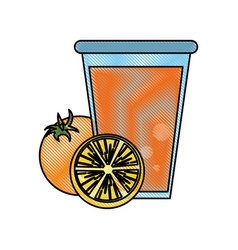 fruit juice icon image vector image