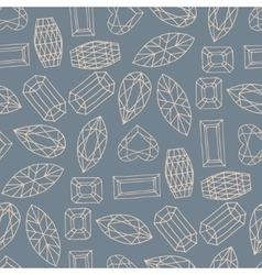 geometric hand drawn seamless pattern of of vector image vector image