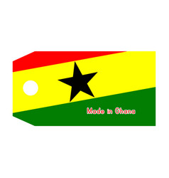 ghana flag on price tag with word made in ghana vector image