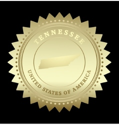Gold star label tennessee vector