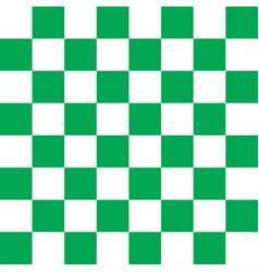 green and white checker pattern vector image