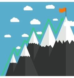 Mountaineering Route Goal Achievement vector image