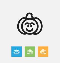 Of vegetable symbol on pumpkin vector