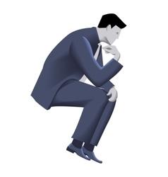 Pensive businessman business template vector