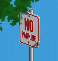 roadsign-noparking vector image vector image