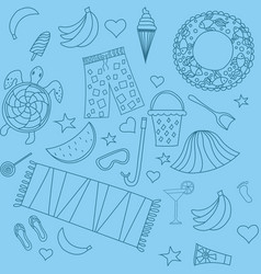 seamless pattern with beach vector image vector image