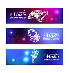 Set of music banners vector