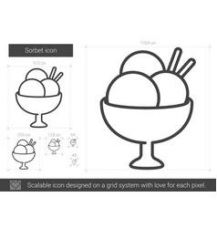 Sorbet line icon vector